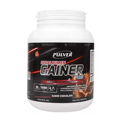 PULVER Ovoalbumen Plus Gainer Chocolate 3000 gr.