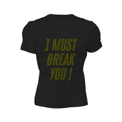 BUCKLER Remera I must break you GRIS OSCURO