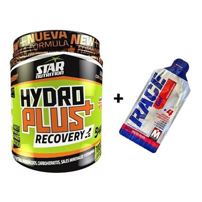 COMBO STAR NUTRITION Hydroplus Recovery Naranja 700 gr. 20 sv. + MERVICK GelRace Frutos del bosque