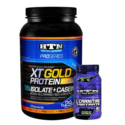 COMBO HTN XT Gold Protein Ch + HTN Carnitina 60 caps.