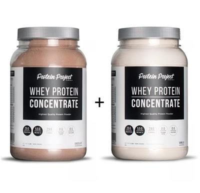 COMBO PROTEIN PROJECT Whey Protein Chocolate + Vainilla 2 x 1000 Grs.