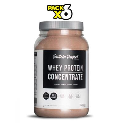 COMBO PROTEIN PROJECT Whey Protein Chocolate 6 x 1000 Grs.
