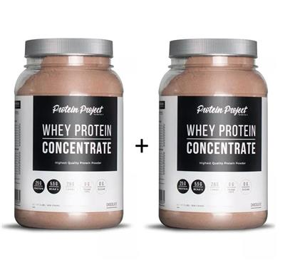 COMBO PROTEIN PROJECT Whey Protein Isolate Chocolate + Chocolate 2 x 1000 Grs.