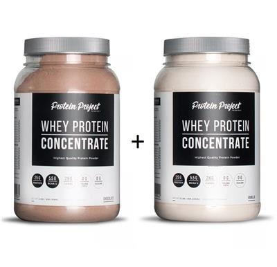 COMBO PROTEIN PROJECT Whey Protein Isolate Chocolate + Vainilla 2 x 1000 Grs.