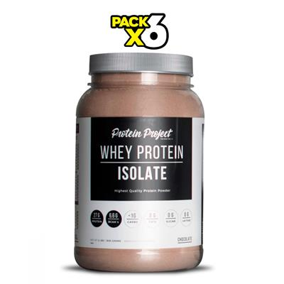 COMBO PROTEIN PROJECT Whey Protein Isolate Chocolate 6 x 1000 Grs.
