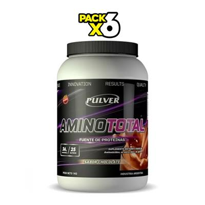 ~ COMBO PULVER Amino Total Chocolate X 6 1000 gr.