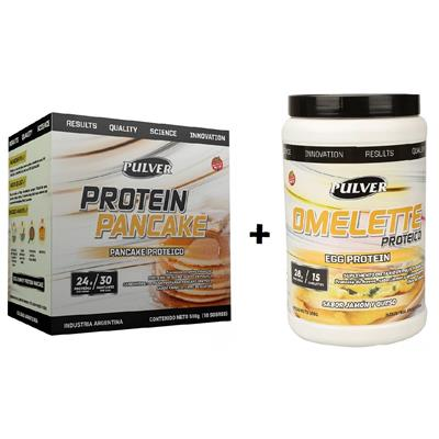 ~ COMBO PULVER Omelette Proteico 500 gr. + PULVER Pancake Protein