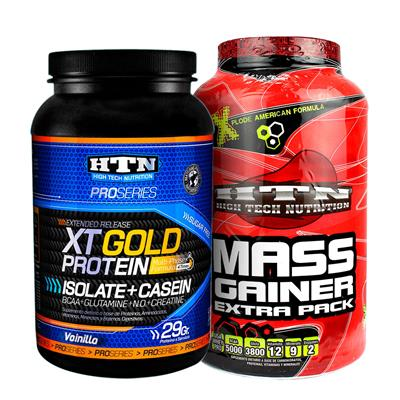 ~ COMBO HTN VOLUMEN 4 Gold Vainilla + HTN Gainer 1,5kg Chocolate