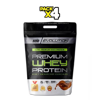 COMBO STAR NUTRITION Whey Protein Chocolate 4 x 3000 gr.