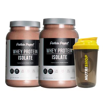 ~ COMBO PROTEIN PROJECT Whey Protein Isolate Ch x 2 U. + Shaker Regalo