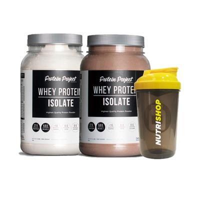 COMBO PROTEIN PROJECT Whey Protein Isolate Ch + Va + Shaker Regalo