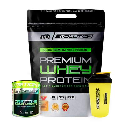 ~ Whey Protein 3 Kg Star Nutrition + Creatina 300 G + Vaso
